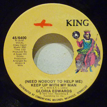GLORIA EDWARDS - KEEP UP WITH MY MAN / ANYTHING YOU WANT - 45T (SP 2 titres)