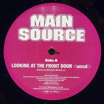 MAIN SOURCE - LOOKING AT THE FRONT DOOR (UNCUT) / TIME - 12 inch 45 rpm