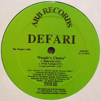 Defari - Spell My Name / Slumpy