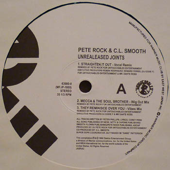 Pete Rock & CL Smooth; CL Smooth - Unreleased Joints [VLS] (1996)