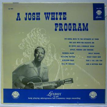 A Josh White Program - JOSH WHITE